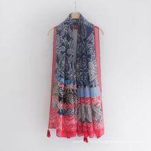 Мода женщин Пейсли печати вискоза Шелковый шарф (YKY1147)