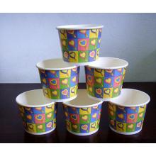 ЭКО-Дружественных Бумажный Стаканчик Мороженного, Использование: Холодный Напиток, Мороженое Ест