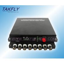 Convertidor / transceptor video de Digitaces de la fibra óptica de 8 canales