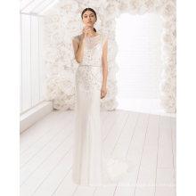 Pesado beading lace tule vestido de noiva nupcial noite