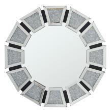Espelho de suspensão de cristal com diamante em MDF