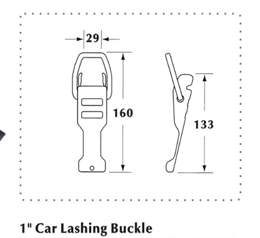 25MM Car Lashing Buckle Break Force 1500KG