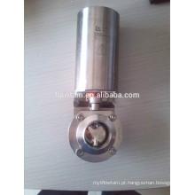 Válvula de borboleta pneumática de grau alimentar