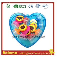 Mini Stamp in Heart Shape PP Box Packing