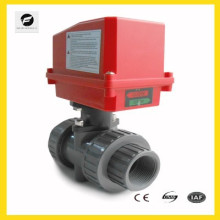UPVC 2 way electric automatic ball valve with actuator female thread slip ends