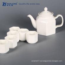 Awalong personalizar China estilo de porcelana tetera blanco conjunto / regalo de té de cerámica clásica conjunto para adultos