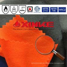 Tela de aramida resistente al fuego de alta visibilidad para la ropa