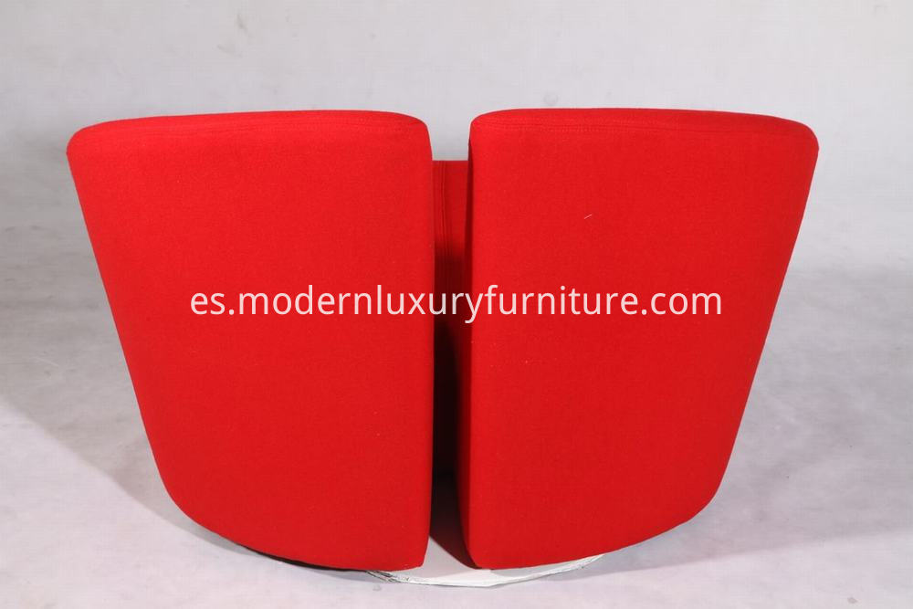 Red Fabric Truelove Chair