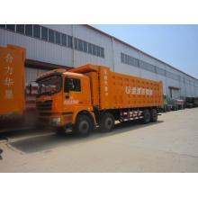stock shacman dump truck 8x4 drive 336hp