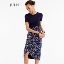 Floral Print Pencial Women Mini Skirt