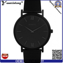 Yxl-372 New Arrival Promotional Quartz Men Watch Leather Stainless Steel Case Dw Style Wrist Watch Black Face Lady Watch Factory