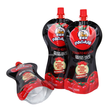 Stand Up Spout Pouch For Ketchup Packaging