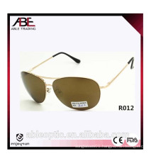European style unisex metal sunglasses with 10 pieces MOQ