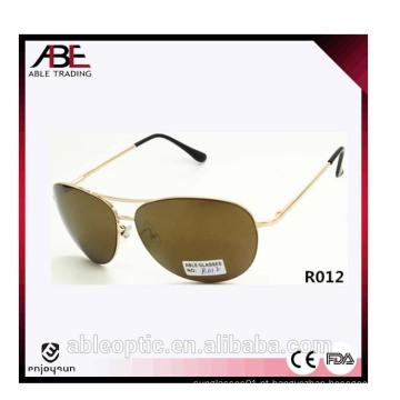 Óculos de sol de metal unisex de estilo europeu com 10 peças MOQ
