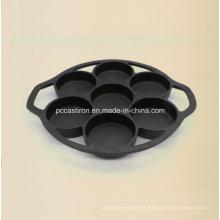 Molde Preseasoned de la torta del hierro fundido 7PCS China Factory