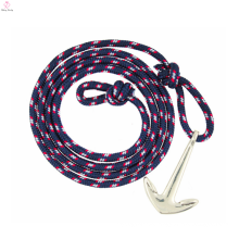 2017 cheap navy wind sailing pirate anchor light woven bracelet for men or women