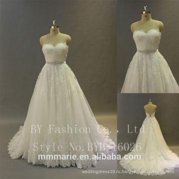 Дизайнерские свадебные платья реальный образец большой Паффи корсет лиф крупными бусинами, кружевом 2017 новый дизайн бальное платье