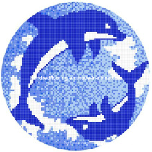 Mosaico de mosaico de diseño de mosaico de vidrio (HSP322)