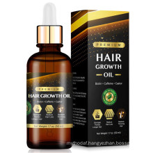 Natural Biotin & Castor Hair Growth Oil with Caffeine for Stronger Thicker