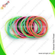 Faixa elástica colorida redonda de 3mm Ployester para a decoração do cabelo