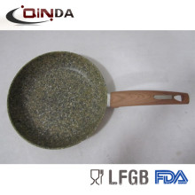 24cm forged aluminum green granite stone fry pan