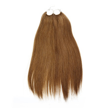 2020 Most Popular Hair Extension Product 16inch Brown Cotton Thread Knotted No-Tip Hair Extension 12A Grade Virgin Hair
