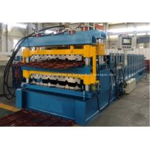 Máquina de cobertura de perfil ondulado de dupla camada de uso de telhado
