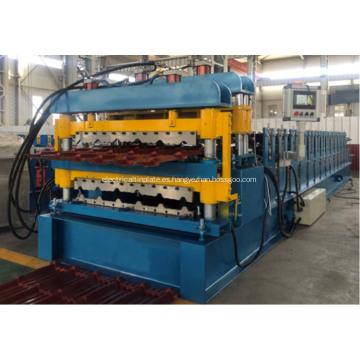 Máquina corrugada IBR de doble capa para láminas para techos 845 y 900
