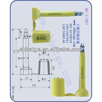 sellos de alta seguridad BG-Z-007, sello de contenedor