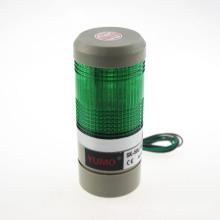 Lâmpada de advertência verde do sinal do diodo emissor de luz, luz industrial da torre