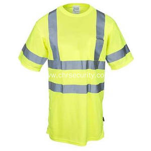Men's Hi Vis Yellow Reflective Shirt