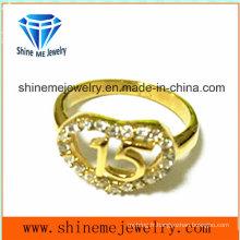 Acier inoxydable 316L avec anneau en bijoux de mode CZ (SCR2958)