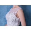 Элегантный Белый свадебные платья кружева длинным шлейфом свадебные платья с бисером и Кристалл