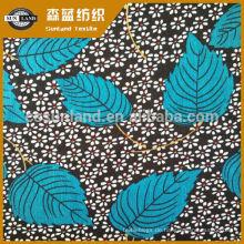 Blume bedruckt 100 Polyester Interlock-Stoff für Kleidung Blumendruck Polyester Spandex-Stoff für Kleid