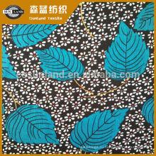 цветок напечатал 100 полиэстер ткань блокировки для одежды цветок печати полиэстер спандекс ткань для платья