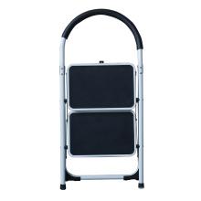Escalera plegable plegable de 2 escalones de acero para lidl Escalera doméstica NON Slip Tread Safety