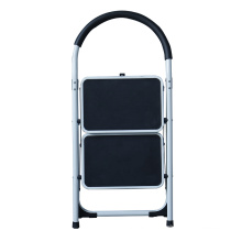 folding step stool foldable 2 steel step ladder for lidl NON Slip Tread Safety Domestic Ladder