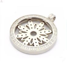 Pingentes especiais medalhão de zircão para moedas, pingentes para moedas magnéticas com prato de flores