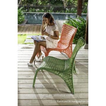 Hot sale Outdoor All Weather black metal garden chairs comfortable