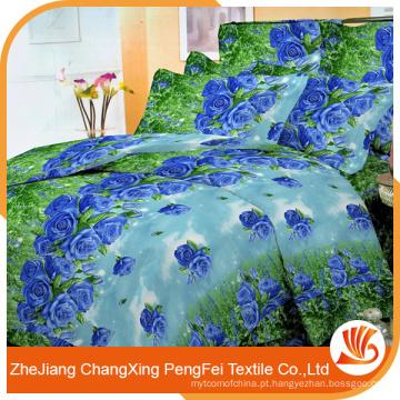 Fábrica novo produto poliéster tecido impresso para casa têxtil