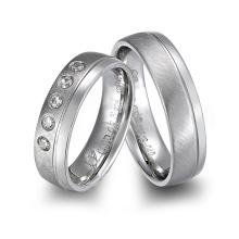 Gypsy 18K Gold Plated Diamond Titanium Wedding Rings Jewelry