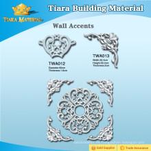 Material de decoración exquisita PU 3D acentos de pared para el diseño de interiores