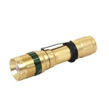 Golden Color Q5 LED Adjustable Dimmer Flashlight