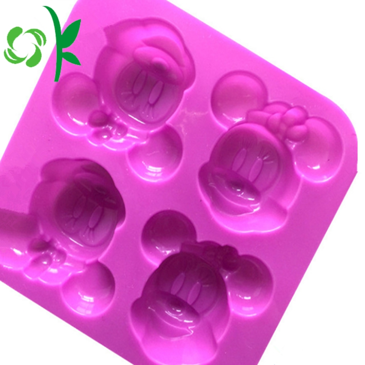 4 Holes Minnie Mouse Soap Mold