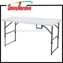 Mesa plegable de plástico, mesa de picnic plegable, mesa plegable portátil, 4 '