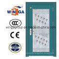 Decorative Security Steel Metal Temped Glass Door (W-GD-04)