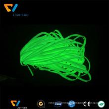 Brillo al por mayor en la cinta de tuberías de tela verde fotoluminiscente oscuro para calentar en la ropa