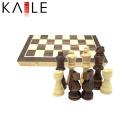 Juego de tablero de ajedrez de madera con doblez magnético