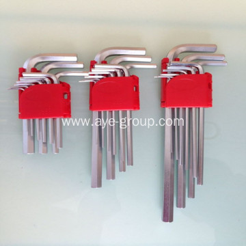 Flat Head 9pcs Hex Allen Key