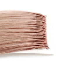 High Quality Wholesale Ash Pink Color 8-30inch Human Virgin Hair Thread Knotted Hair Extensions Remy Hair